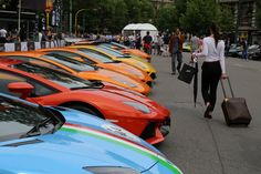 Lamborghini's Birthday Tour Of Italy. The celebration kicked off in Milan.