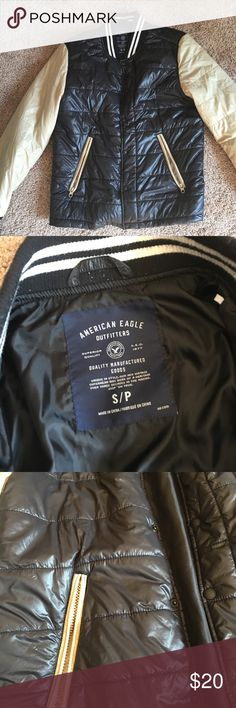 American eagle light weight men's jacket This is a very nice men's jacket in great condition. It is not very heavy or thick American Eagle Outfitters Jackets & Coats
