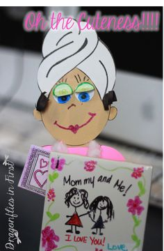 Permanent Art Tile Note Holders and SPA MOM - QUICK and EASY Mother's Day Gift/Craft!
