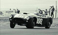 Dave MacDonald Riverside Raceway 1963 in Carroll Shelby's Cobra drifting towards victory