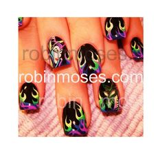Nail Art Gallery - maleficent and dragon, These are AMAZING!