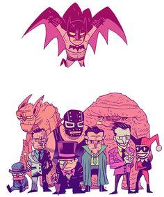 Batman and Rogues by Dan Hipp, art director of Teen Titans Go! (mrhipp.blogspot.com)