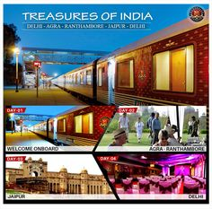 """Want to explore India?? Take a tour of Delhi, Agra, Jaipur and Ranthambore by Maharajas Express with the most famous itinerary """"Treasures of India""""."""