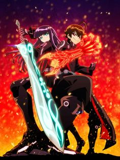 The first three voice cast members for the upcoming anime adaptation of Yoshiaki Sukeno's Twin Star Exorcists (Sōsei no Onmyōji) manga has been announced last Wednesday. Exorcist Anime, The Exorcist, Manga Anime, Anime Art, Sousei No Onmyouji Benio, Koi, Adashino Benio, Rokuro And Benio, 2016 Anime