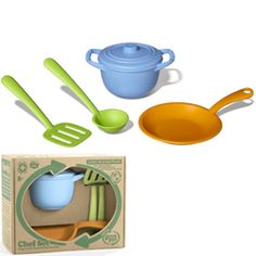 Green Toys Chef Set.  Shop for toys at Applause Toy Store #greenproducts