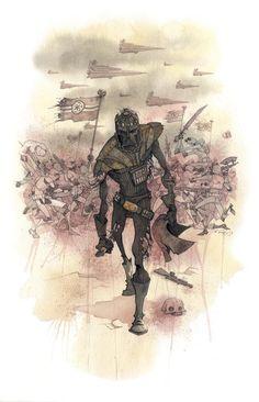 """Vader's Helmet"" Darth Vader Star Wars by Gris Grimly"