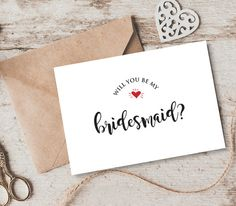 Get creative - write a personal note to your bridesmaid.
