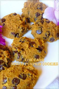 If you prefer you could use chopped walnuts in these yummy, large cookies. We need at least one good Fall pumpkin cookie baking time in the kitchen. These flew, but you can freeze them. ~ Jen #spicedpumpkincookies #pumpkinchocolatechipcookies #pumpkinwalnutcookies #lowcarb #glutenfree #lowcarbpumpkincookierecipes
