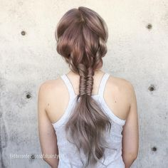 If you watched me on Periscope today you probably noticed my braided style I'm releasing on my YouTube channel this week. So fun right? Follow me on periscope username jennystrebe. Modeled on my muse @minxieee Hope everyone is having a fab weekend! #periscope #hair #hairstyles #braid #infinitybraid ##hairstylist #btcpics #behindthechair