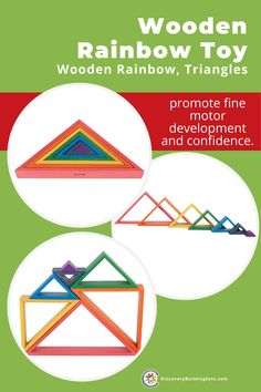 Discovery Building Sets offers colorful rainbow blocks. The smooth textures and bright colors of this wooden rainbow toy are safe for your toddler's block play area. Your child will love nesting and stacking these wooden toy blocks in their own unique ways during block play. Add this sturdy, wooden rainbow to your block center and inspire creativity and imaginative play. #DiscoveryBuildingSets #woodenrainbow #woodenbuildingblocks #rainbowblocks #blockplay #woodenbuildingtoys #blocksfortoddlers Blocks For Toddlers, Wooden Toys For Toddlers, Toddler Toys, Wooden Building Blocks, Building Toys, Rainbow Blocks, Block Center, Block Play, Wooden Rainbow