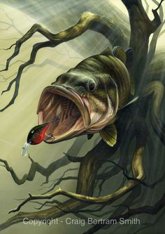 Green Goblin' by Craig Bertram Smith, 2011. Bass fishing