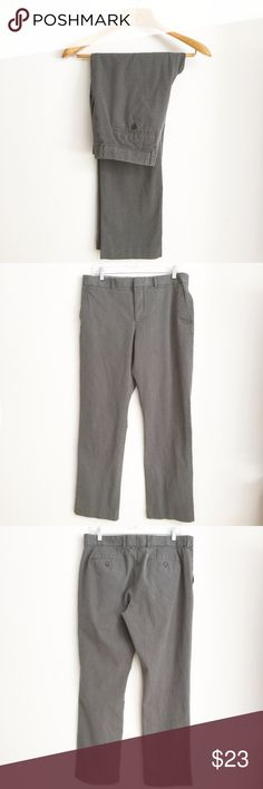 Express Gray Dress Pants Pants have been gently worn but in great condition. The inseam is approximately 32 inches. The fabric content is 97 percent cotton and three percent spandex. Express Pants Dress