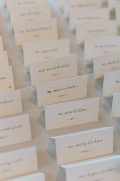 classic escort cards for your reception