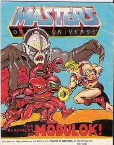 ORIGINAL 80S MATTEL HE-MAN MASTERS OF THE UNIVERSE SPIKOR STRIKES COMIC BOOK