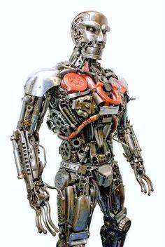 RoboMan  Main Recycled Materials: Motorcycle Parts  Artist: RoboSteel