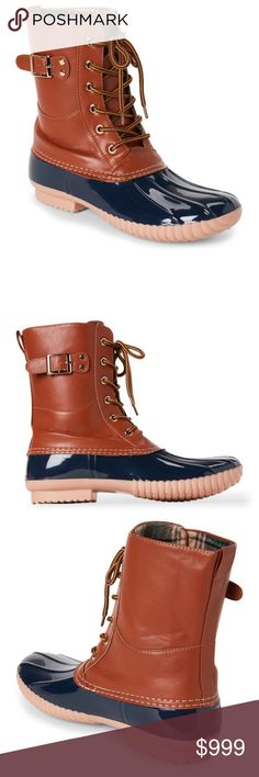 f8127fda5b8 Henry Ferrera Mission Duck Boots Authentic new with box. Rubber and faux  leather upper