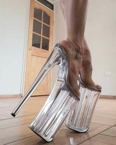 Thigh High Boots Heels, Hot High Heels, High Heels Stilettos, Heeled Boots, High Platform Shoes, Extreme High Heels, Stripper Heels, Sexy Feet, Thigh Highs