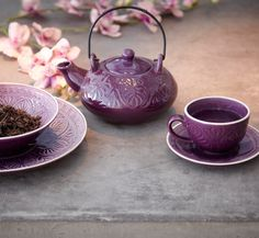Purple Tea set  √