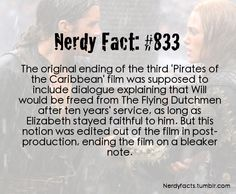 Disney Pirates of the Caribbean fact...This is what Im going to go with from now on