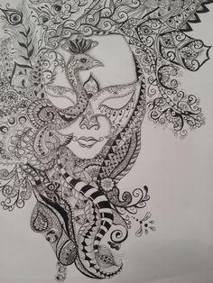 I love Zentangle.  Made by Fennie Klein Tiessink