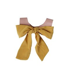 Mellow Yellow Leather Bow Collar