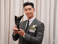 South Korean Actor Park Seo Joon was awarded as the winner of the 2018 Star of Korean Tourism Award. He received the award at the ceremony held on December 2018 by Korea Tourism Organization and the Ministry of Culture, Sports, and Tourism. Park Seo Joon Hwarang, Park Seo Jun, Asian Actors, Korean Actors, Bae Yong Joon, Korea Tourism, Korean Entertainment News, Jun Ji Hyun, Lee Min Ho