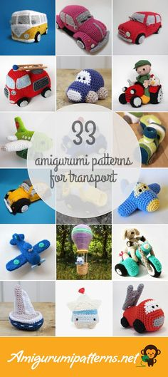 33 Transport Amigurumi Patterns