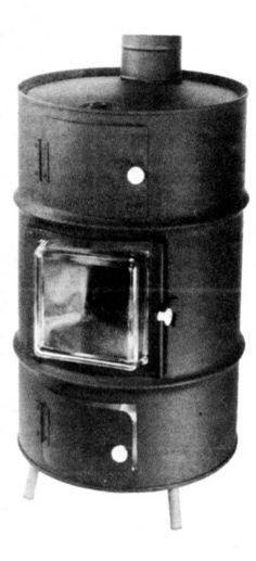 Upright Barrel Stove | Steel Drum