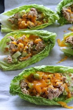 Tuna Melt Boats Recipe ~ Says: Perfect if you are on a low carb kick or even just for a healthy meal or snack… Delicious! Tuna Melt Boats Recipe ~ Says: Perfect if you are on a low carb kick or even just for a healthy meal or snack… Delicious! Tuna Recipes, Seafood Recipes, Low Carb Recipes, Cooking Recipes, Healthy Recipes, Cookbook Recipes, Easy Recipes, I Love Food, Good Food