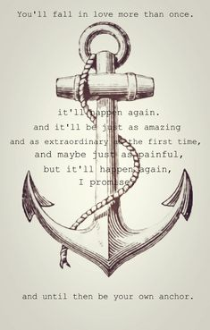Be your own anchor. // Melissa McCall