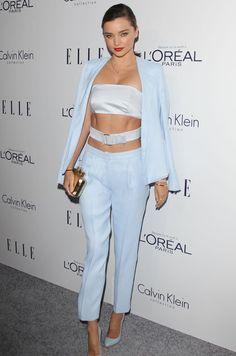 #BestLook: Miranda Kerr w garniturze Calvin Klein