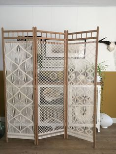 A lot of macramé. Old room divider in a new style. Made by me. A lot of macramé. Old room divider in a new style. Made by me. Macrame Art, Macrame Projects, Diy Room Divider, Old Room, Macrame Curtain, Hallway Decorating, Diy Home Crafts, Cheap Home Decor, Home Decor Accessories