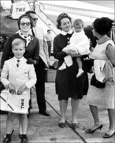 La Princesse Stéphanie De Monaco en 1966, aux Etats-Unis avec Grace et Albert