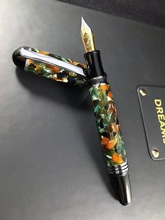 The Churchill Fountain Pen in Pistachio. For the serious collector. The perfect Executive Gift or Desk Pen.