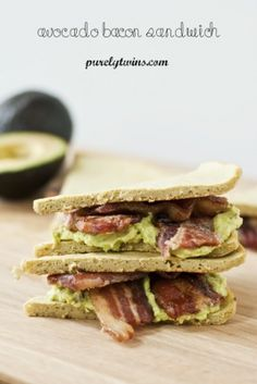 Ripped Recipes - Bacon Avocado Grain-Free Sandwich - A simple paleo friendly sandwich - made from all natural wholesome ingredients. This sandwich will become your favorite meal!