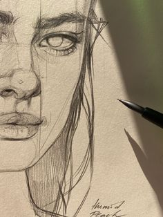 Art Sketchbook Aesthetic Pencil – Art World 20 Pencil Art Drawings, Cool Art Drawings, Art Drawings Sketches, Easy Drawings, Drawing Art, Disney Drawings, Sketch Drawing, Pencil Sketches Of Faces, Sketching