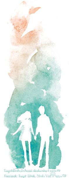 deviantart- Great idea for a watercolor- could do with a flower, butterfly, or sea shell