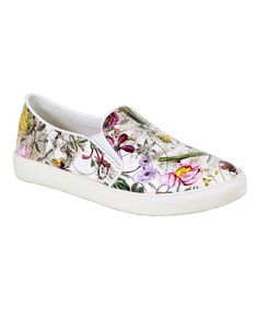 Another great find on #zulily! White Floral Oma Slip-On Sneaker by Reneeze #zulilyfinds