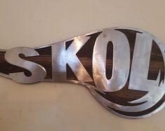 Minnesota Vikings head on wood SKOL metal art viking wall | Etsy Viking Head, Viking Art, Metal Art, Wood Art, Football Wall, Photo On Wood, Minnesota Vikings, Gifts For Father, Wood Carving