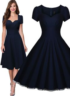 Free shipping Women's Vintage Style Retro 1940s Shirtwaist Flared Tea Dress Swing Skaters Ball Gown Summer dress 3230(China (Mainland))