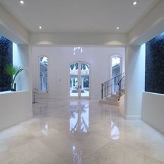 Kitchen Living Rooms Remodeling White Marble Floor Design Ideas, Pictures, Remodel, and Decor; love this, since it's simple - Bathroom Grey, Bathroom Interior, Kitchen Interior, Bathroom Marble, Living Room White, White Rooms, Living Rooms, Bad Inspiration, Bathroom Inspiration