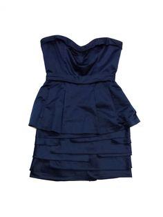 Bcbg Max Azria- Navy Cotton Layer Dress Sz 4