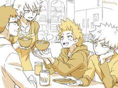 My Hero Academia - Bakugou Family & Kirishima