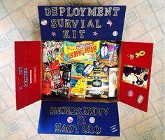 Hubby's deployment survival kit