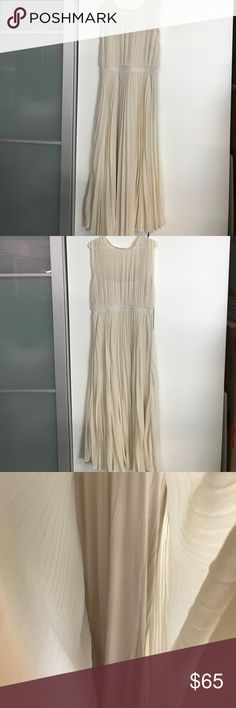 New Anthropologie maxi dress sz M Never worn. Fully lined. In lovely cream color. Anthropologie Dresses Maxi