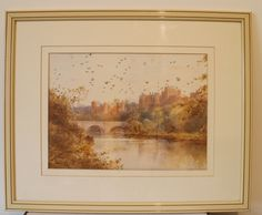 Lovely watercolour by Edward Arden. The majority of Arden's watercolours are of Northumberland and the English Lakes. Well framed in an ivory coloured frame, overall size is 22.5 inches x 17 inches, and visible image size is 13.5 inches x 10 inches.
