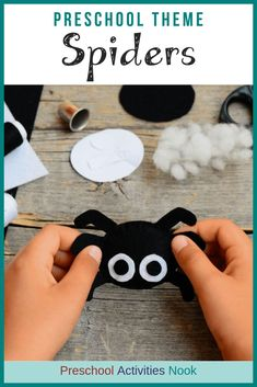 Preschool Spiders Theme- lots of ideas for prek and kindergarten for learning about spiders. Spider printables and hands on activities for kids. Preschool Themes, Preschool Learning, Hands On Activities, 4 Kids, Cringe, Spiders, Kindergarten, Childhood, Printables