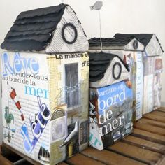 Amazing scrappy houses from Marie Claires Idees
