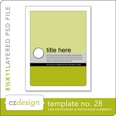 Cathy Zielske's Layered Template No. 028 - Digital Scrapbooking Templates