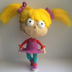 Angelica Pickles By Rugrats, PDF CROCHET PATTERN, Instant Download, Amigurumi by Amigurushki on Etsy